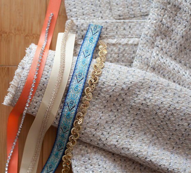 Bricolage // Veste bouclée avec bordure en ruban> Le chic sans effort   – 48 beden