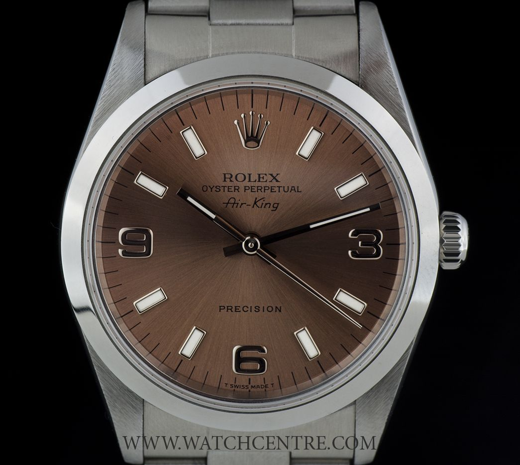 Rolex Stainless Steel Oyster Perpetual Salmon Dial Air