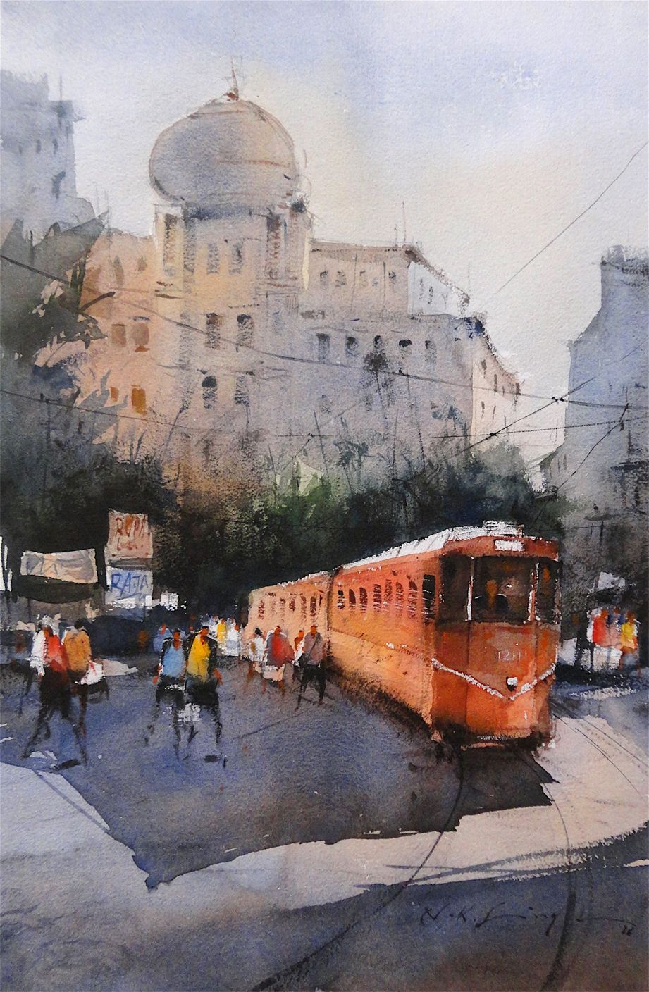 Watercolor Painting-cityscape Online Art Of