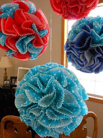 How To Make Paper Balls For Decoration Gorgeous How To Make Decorative Paper Balls From Cupcake Liners Inspiration