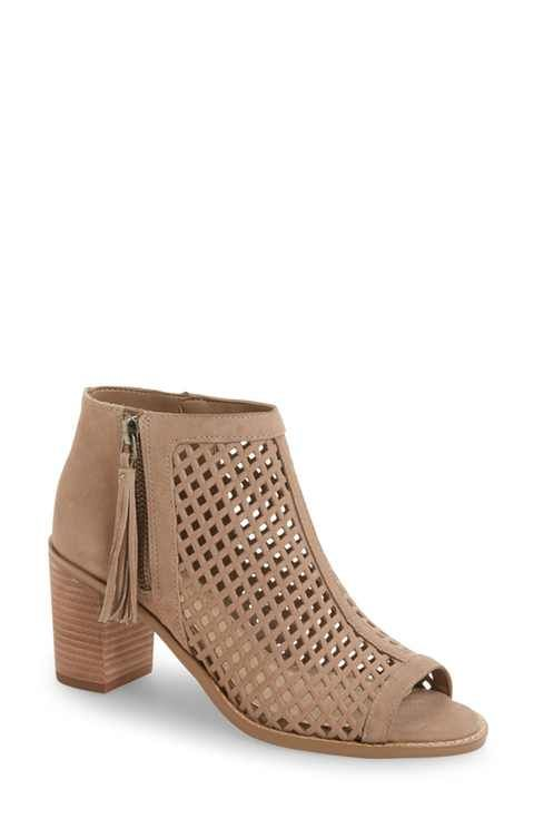 1b95ab077e8 Vince Camuto Tresin Perforated Open-Toe Bootie (Women)