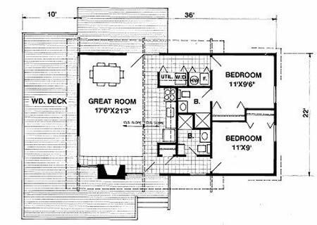 The Crockett 5421 4 Bedrooms And 3 5 Baths The House Designers House Plans Farmhouse Floor Plans Home Design Floor Plans