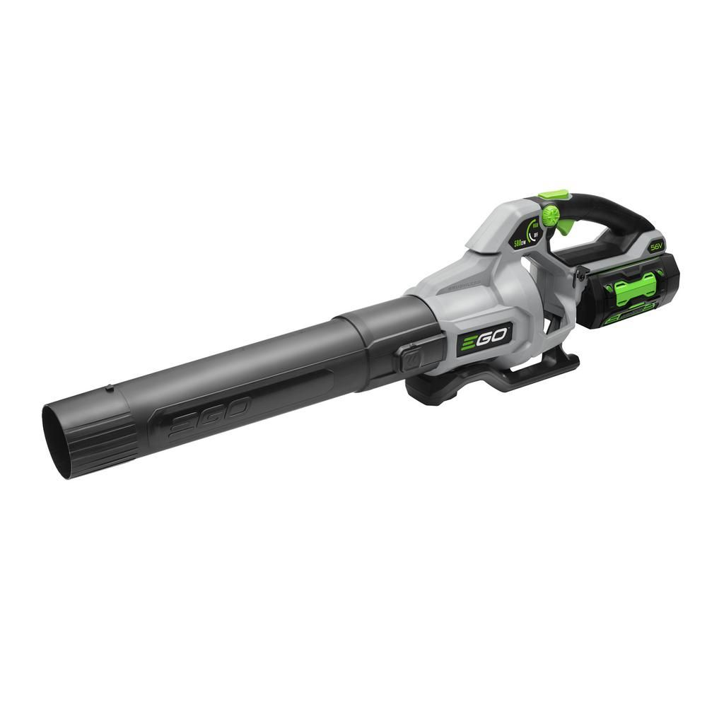Ego 168 Mph 580 Cfm Variable Speed 56 Volt Lithium Ion Cordless Blower With 5 0ah And 56v Charger Kit Blowers Cordless Leaf Blowers Cordless
