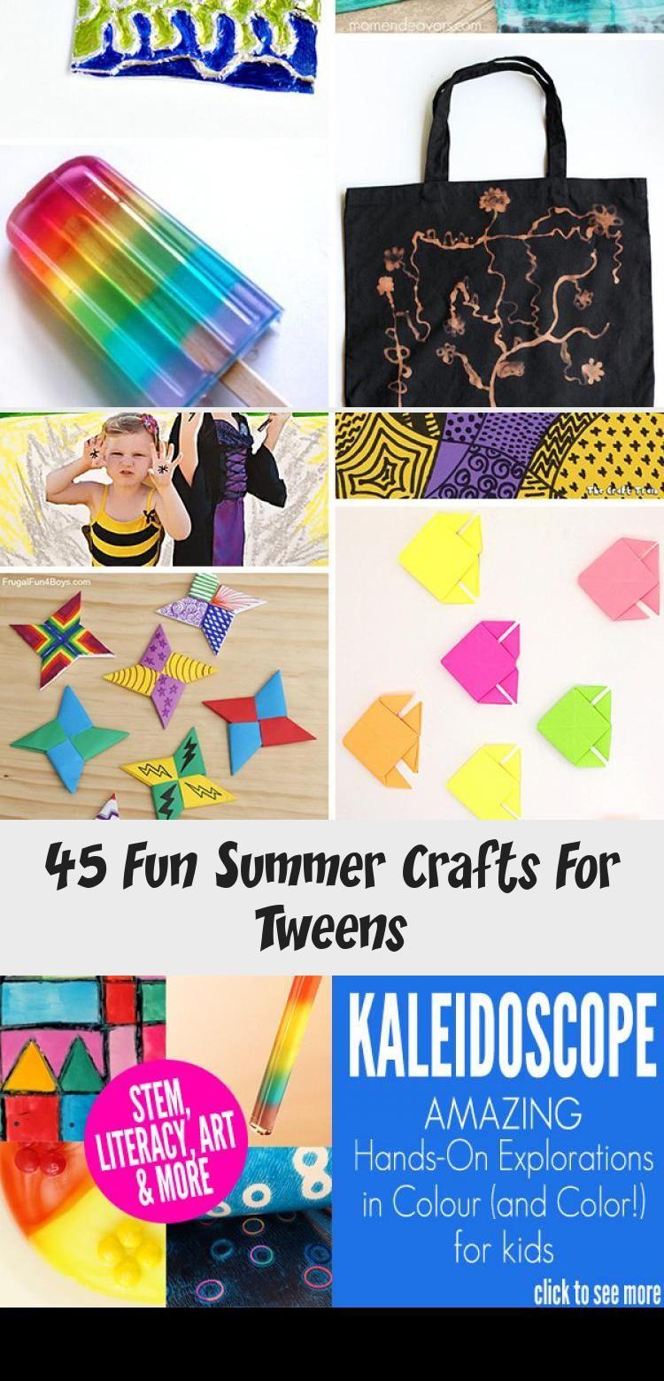 45 Fun Summer Crafts For Tweens Summer Crafts Crafts Spring Crafts