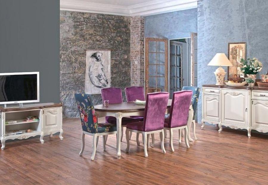 Essgruppe mit 6 Stühlen Imperial - wohnzimmer creme grun