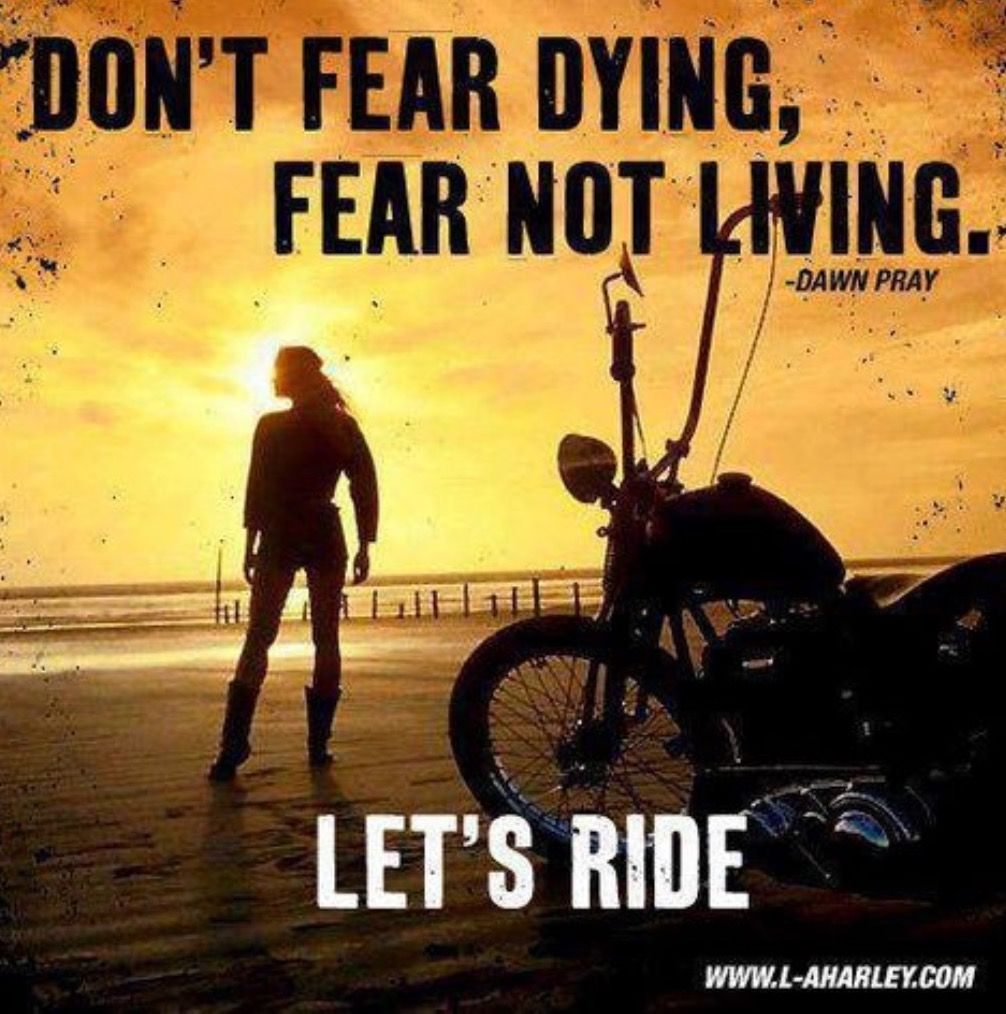 Harley Davidson Love Quotes Don't Fear Dying  Fear Not Livingdawn Pray  Chopper Und
