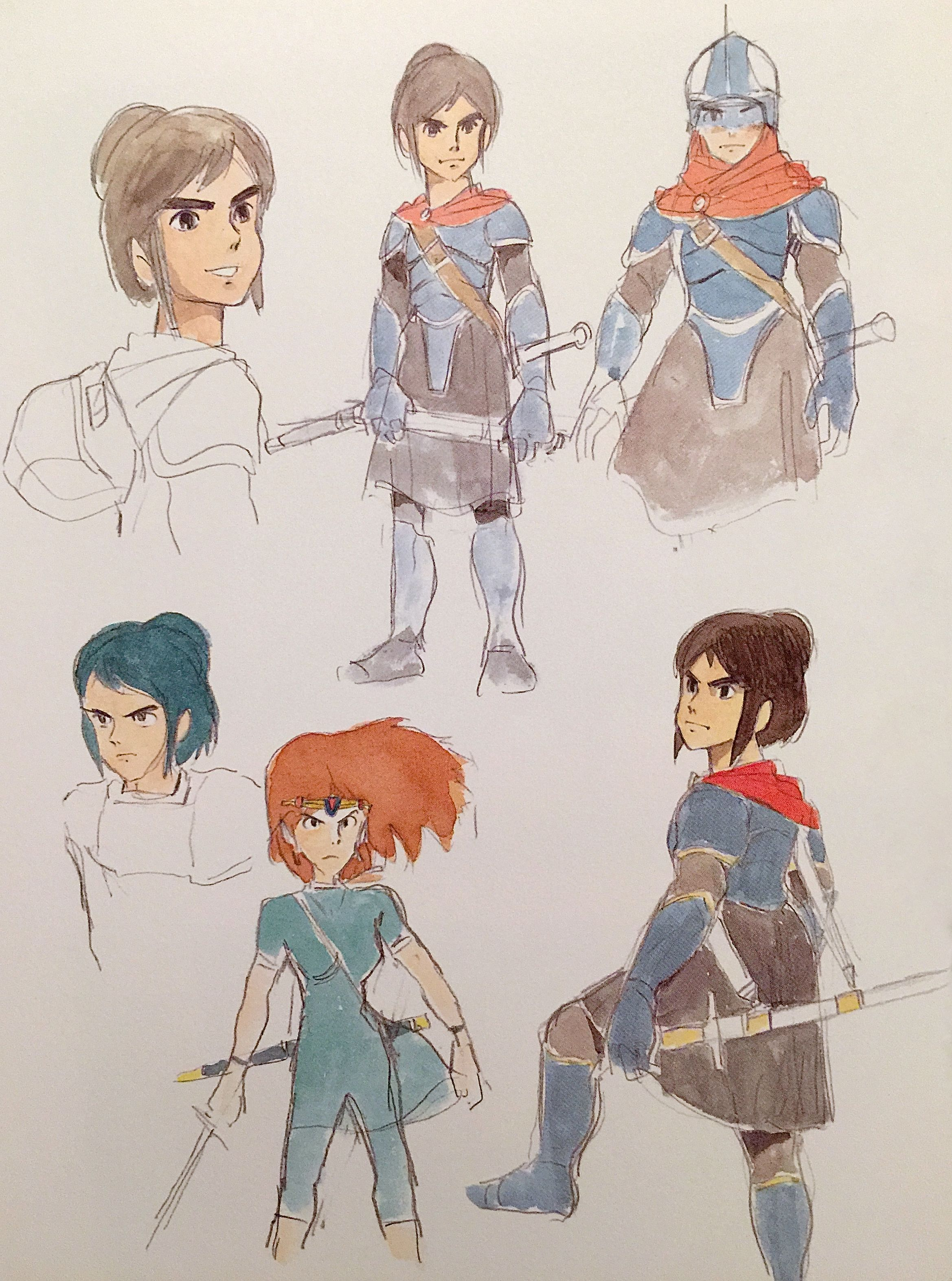 Period Drama Motif The Drawings Miyazaki Accumulated Between 1980 1982 Formed The Basis For The Wor With Images Studio Ghibli Art Studio Ghibli Characters Ghibli Art