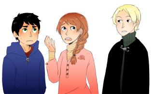 albus potter, rose weasley, and scorpius malfoy
