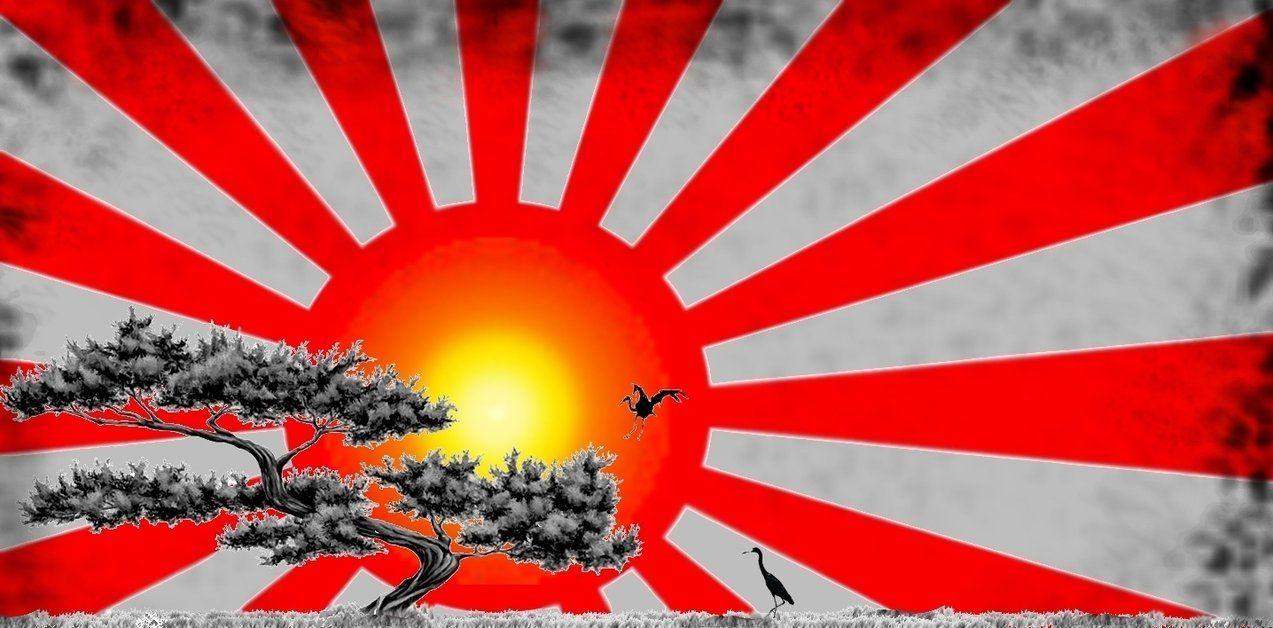 Japanese sunrise flag