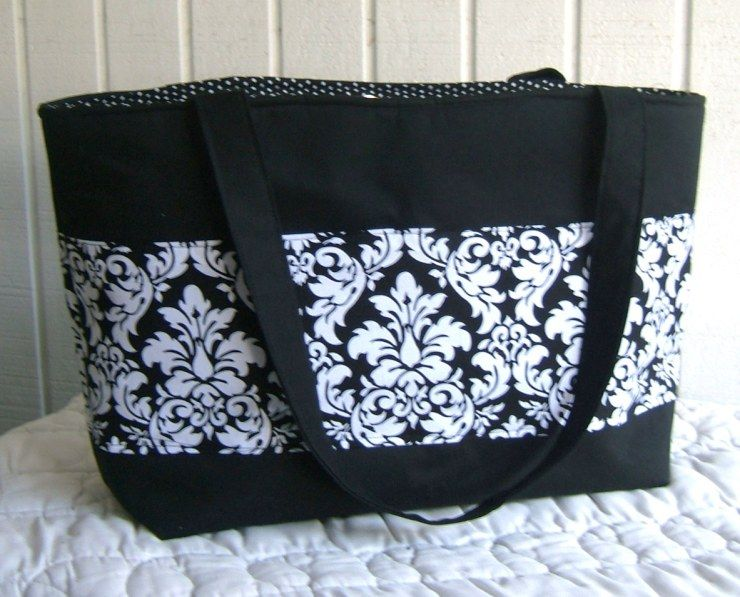 Mrs. Langley\'s Tote Bag Sewing Pattern – Free!!! | Bag sewing ...