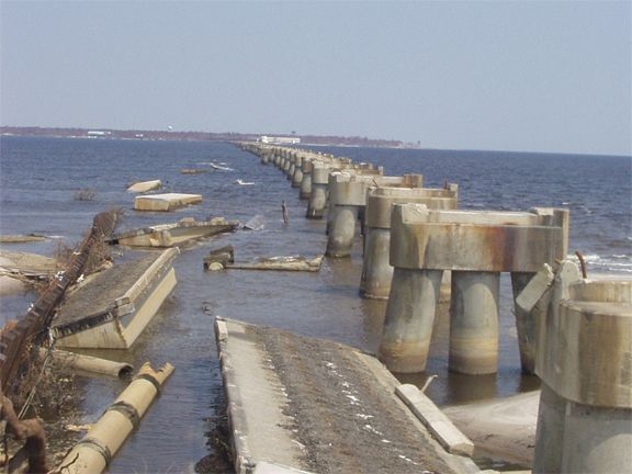 Railroad Bridges Concrete Pilings Are All That Remain Of A Csx Railroad Bridge Across Railroad Bridge Rails Concrete