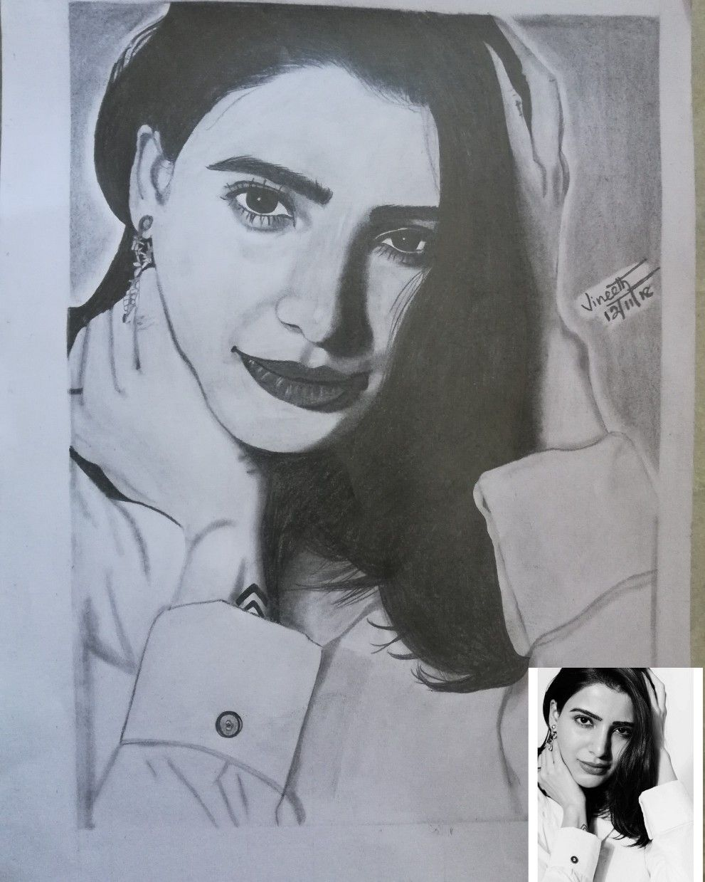 Samantha samantha pencil art pencil sketch realistic arts