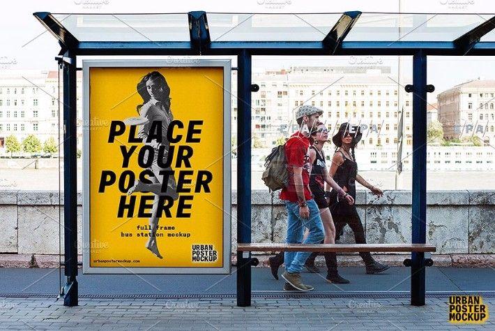 20 amazing urban poster mockups psd