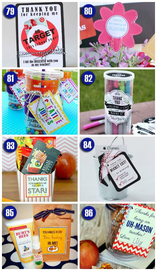 End Of The Year Teacher Gift Ideas Some These Are Really Great