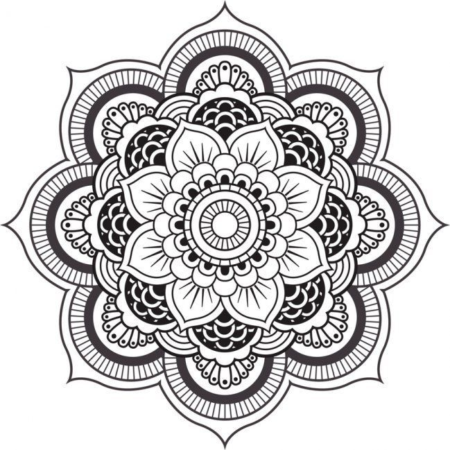 image result for simple mandala drawing tumblr colouring