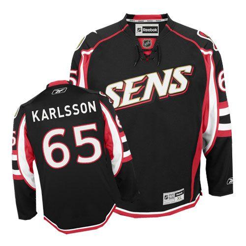Reebok Ottawa Senators #65 Women's Erik Karlsson Authentic Black Third NHL  Jersey