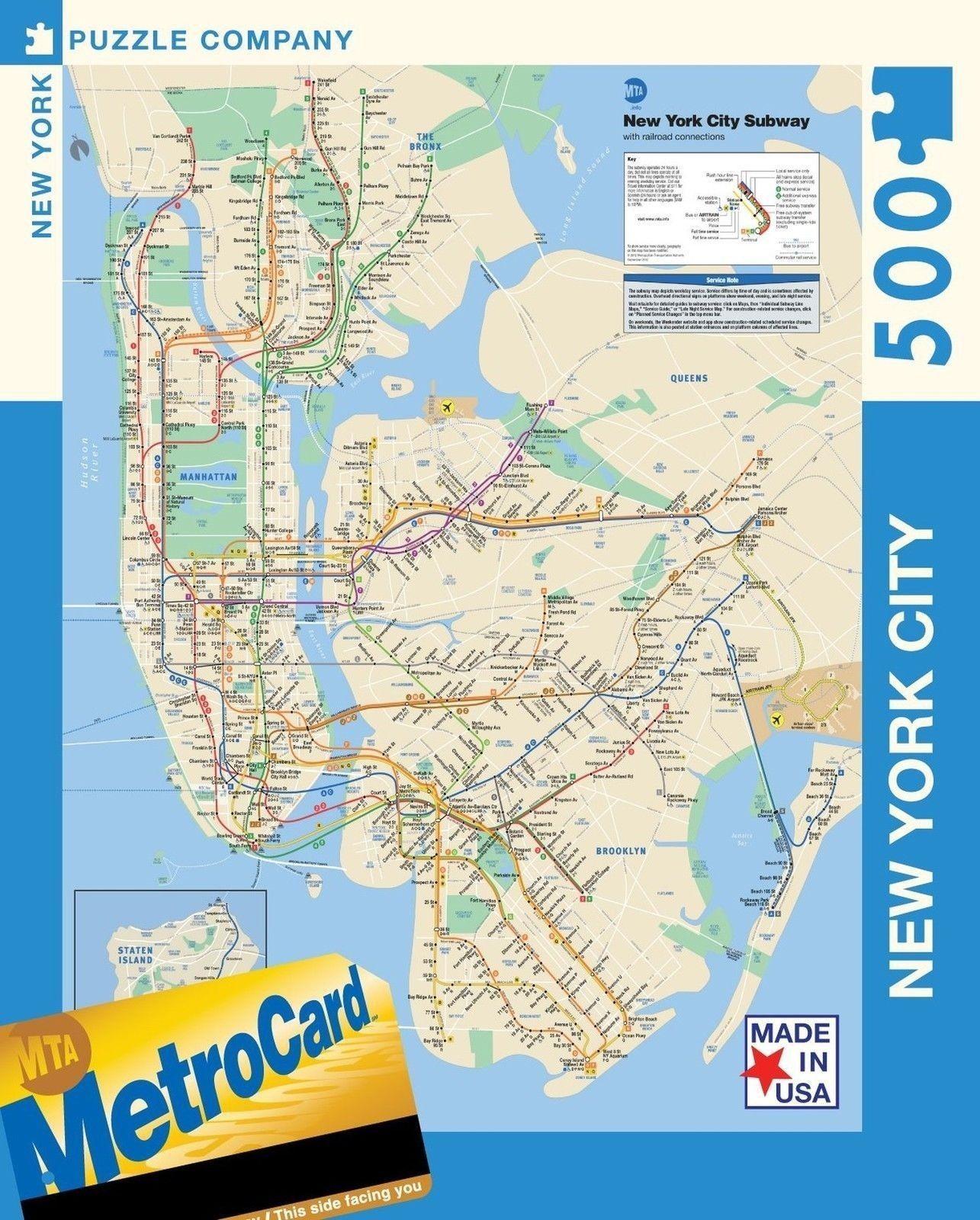New York Puzzle Company New York City Transit Mta Subway