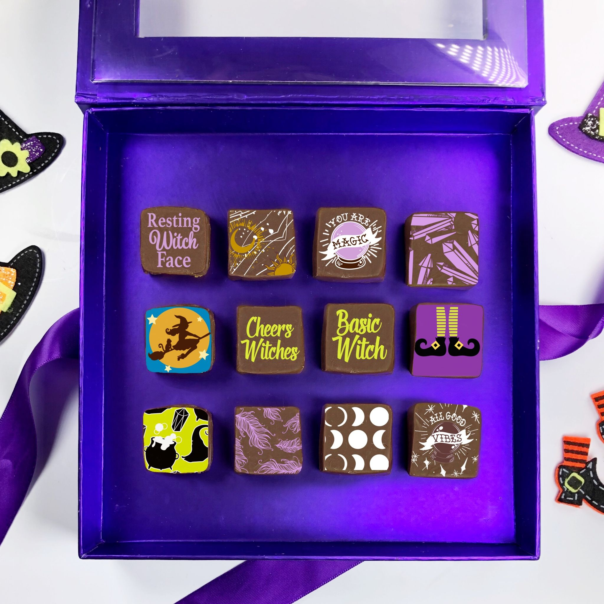 Halloween inspired transfer sheets for all your chocolate