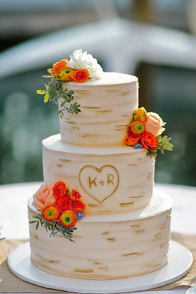 Small Rustic Wedding Cakes But Out Initials J C 3 Wedding Cake Rustic Country Wedding Cakes Simple Wedding Cake