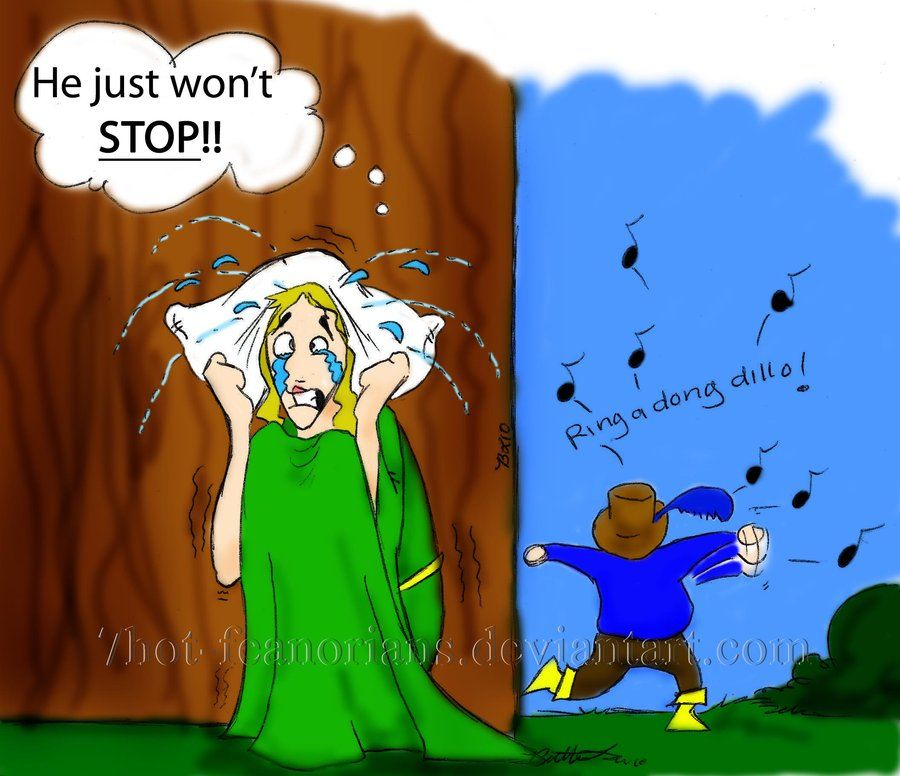 He Just won't STOP by 7hot-feanorians.deviantart.com on @deviantART, Newly wed woes with Goldberry and Tom Bombadil! XD