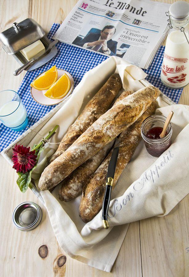 La cocina de Frabisa: RECETA: Baguettes francesas artesanales. LA LUCHA