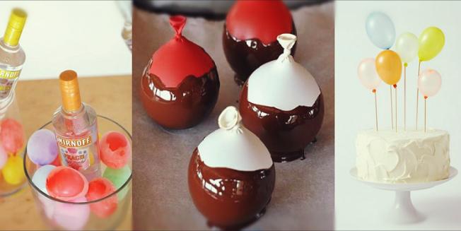 13 Creativas maneras de usar globos en tu comida