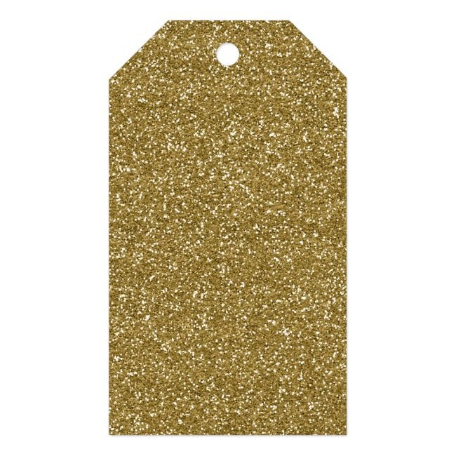 Gold Glitter Background Template Gift Tags | Zazzle.com #goldglitterbackground