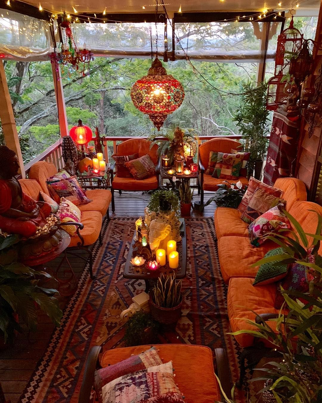 17 Lively Shabby Chic Garden Designs That Will Relax And: So Here Is My Verandah Just Coming On Dusk. At The Moment