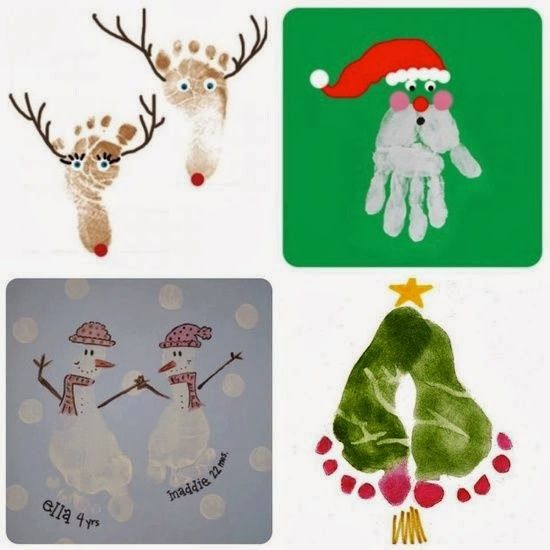 DIY for Kids, The Best DIY and Decor Place For You: Christmas ideas #mistletoesfootprintcraft