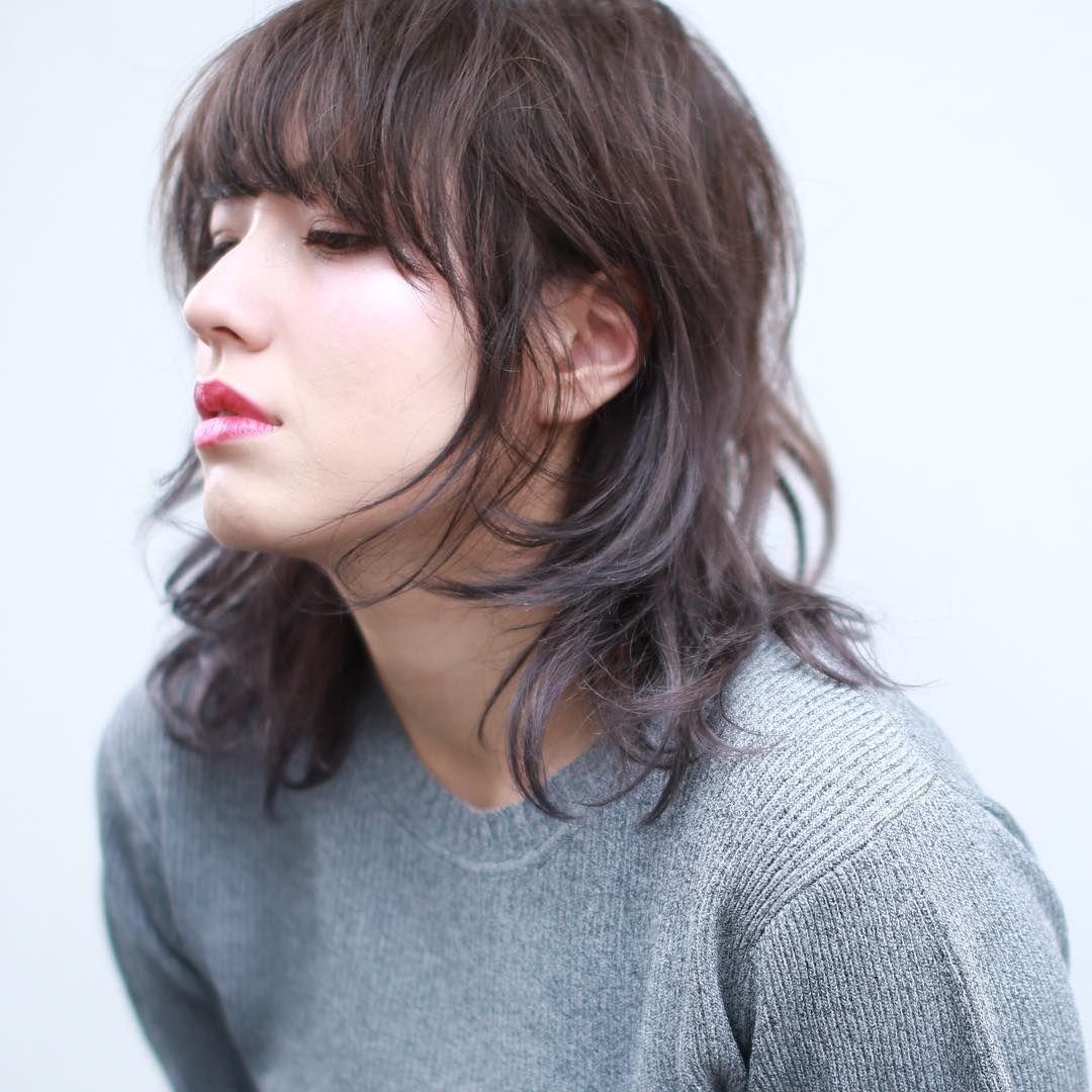 流行りの あいみょんウルフ でカッコ可愛く大変身しちゃいましょう 2ページ目 ミディアム パーマ ヘアスタイル 髪型