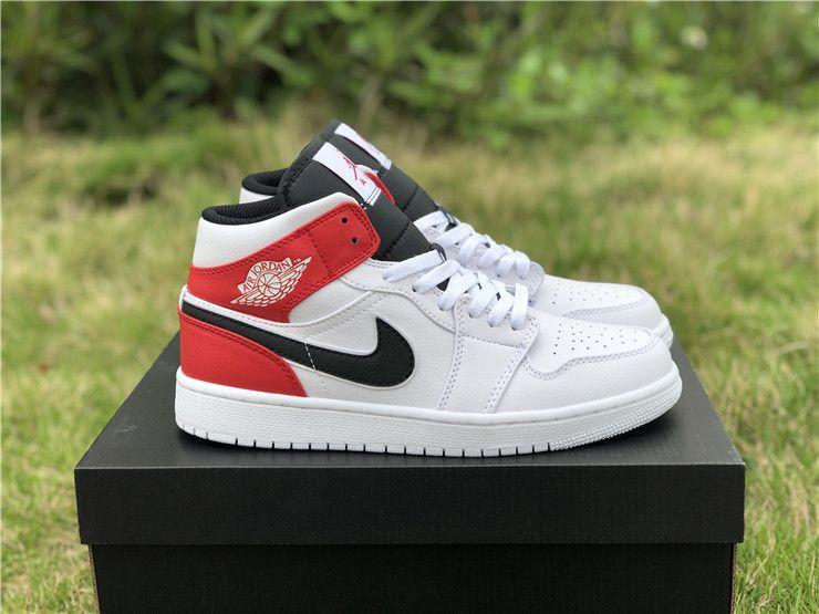 Nike Air Jordan 1 Mid Chicago Remix White Black Gym Red Air