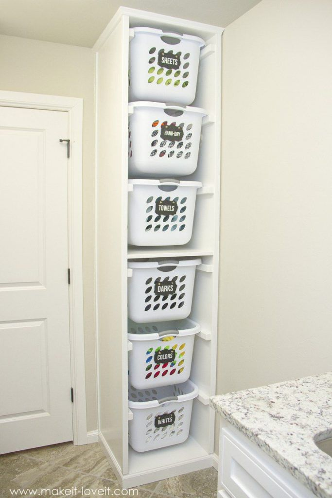 Photo of This DIY Laundry Basket Organizer Will Have Your Laundry Room Functioning Like A Dream