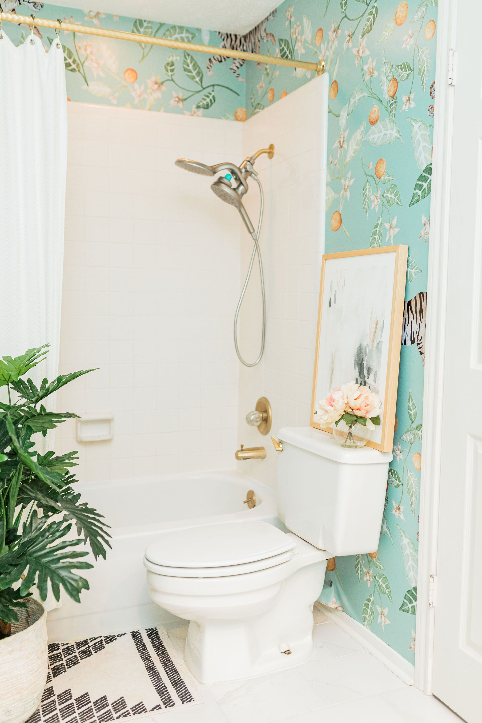 Clementine Mural in 2020 Wallpaper accent wall bathroom
