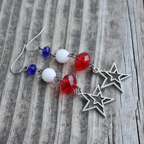 Hypoallergenic Patriotic July Fourth 4th of by LangFamilyJewelry