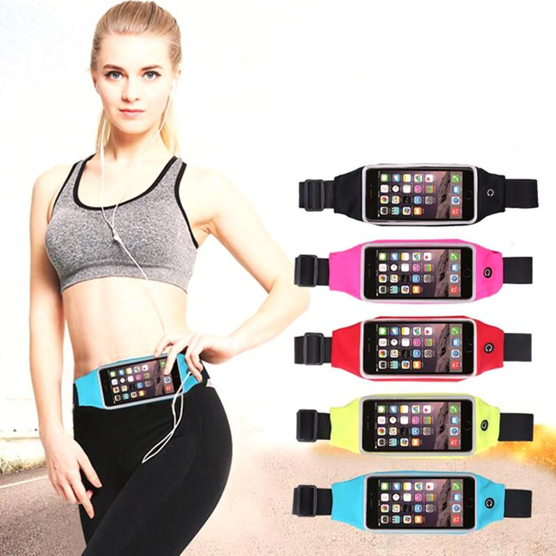 US5.19 48 5.5inch Waterproof Sport Gym Running Waist Bag