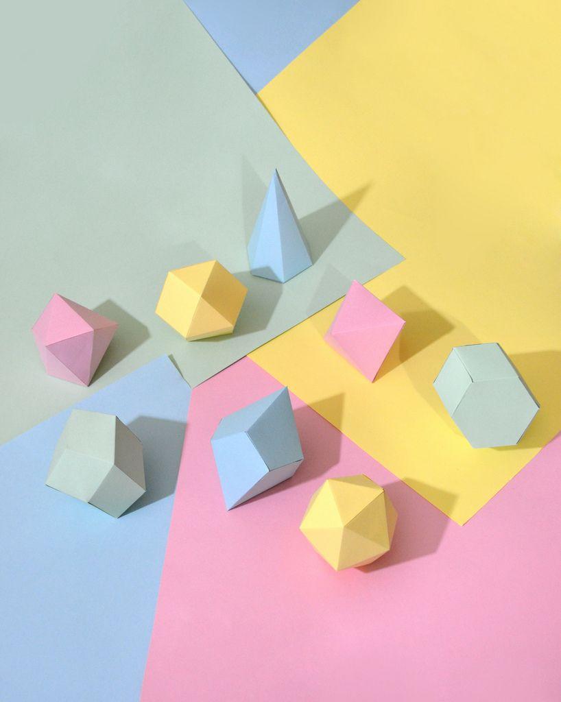 Pastel geometrics.