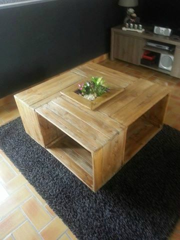 table basse fabriquée par sébastien | table | pinterest | table