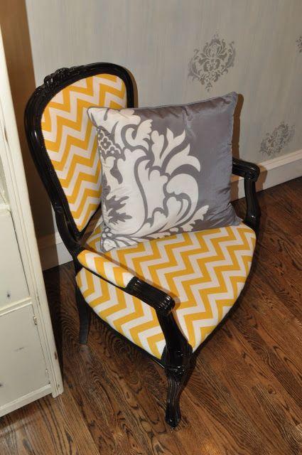 Cassandra Design: Yellow Chevron Chair