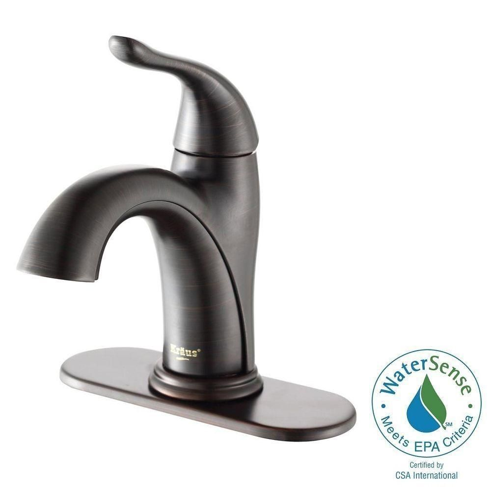 Kraus Arcus Single Hole Single Handle Bathroom Faucet In Oil