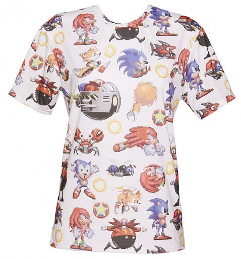 988fd8190 EXCLUSIVE All Over Print  Sonic The  Hedgehog T-Shirt from Mr Gugu ...