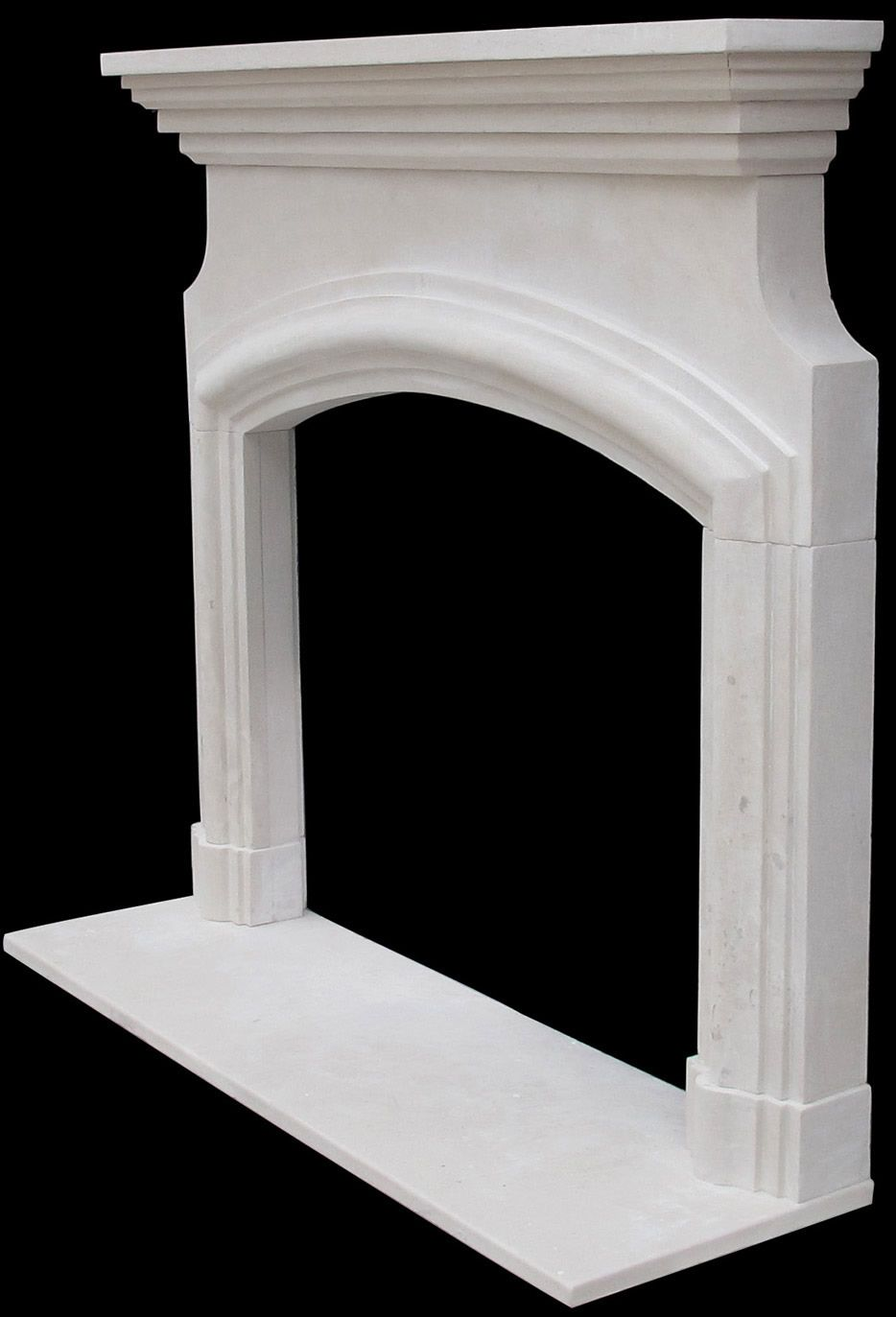 Fireplace mantel surround kit white fireplace mantel for Autrefois home decoration marseille