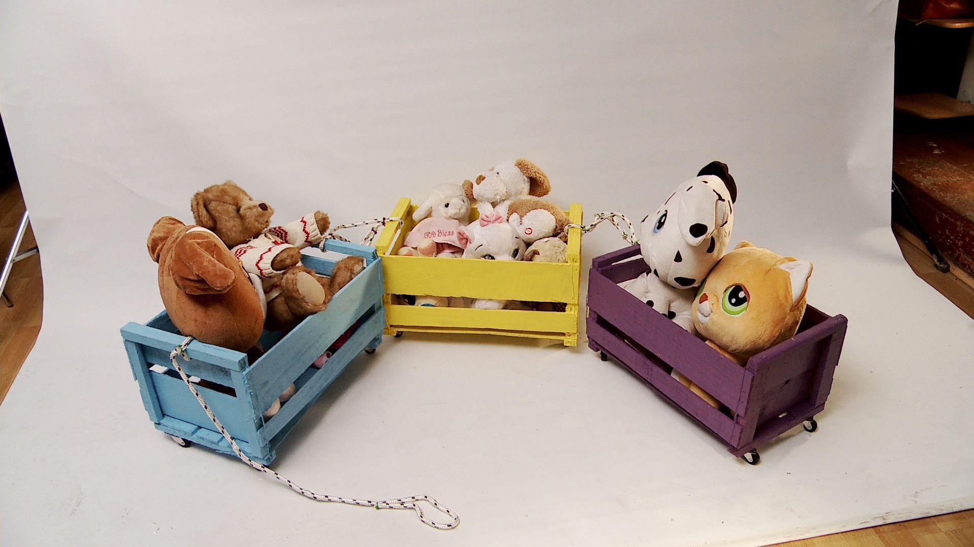 En este proyecto reciclaremos los cajones de frutas o - Cajon para juguetes ...
