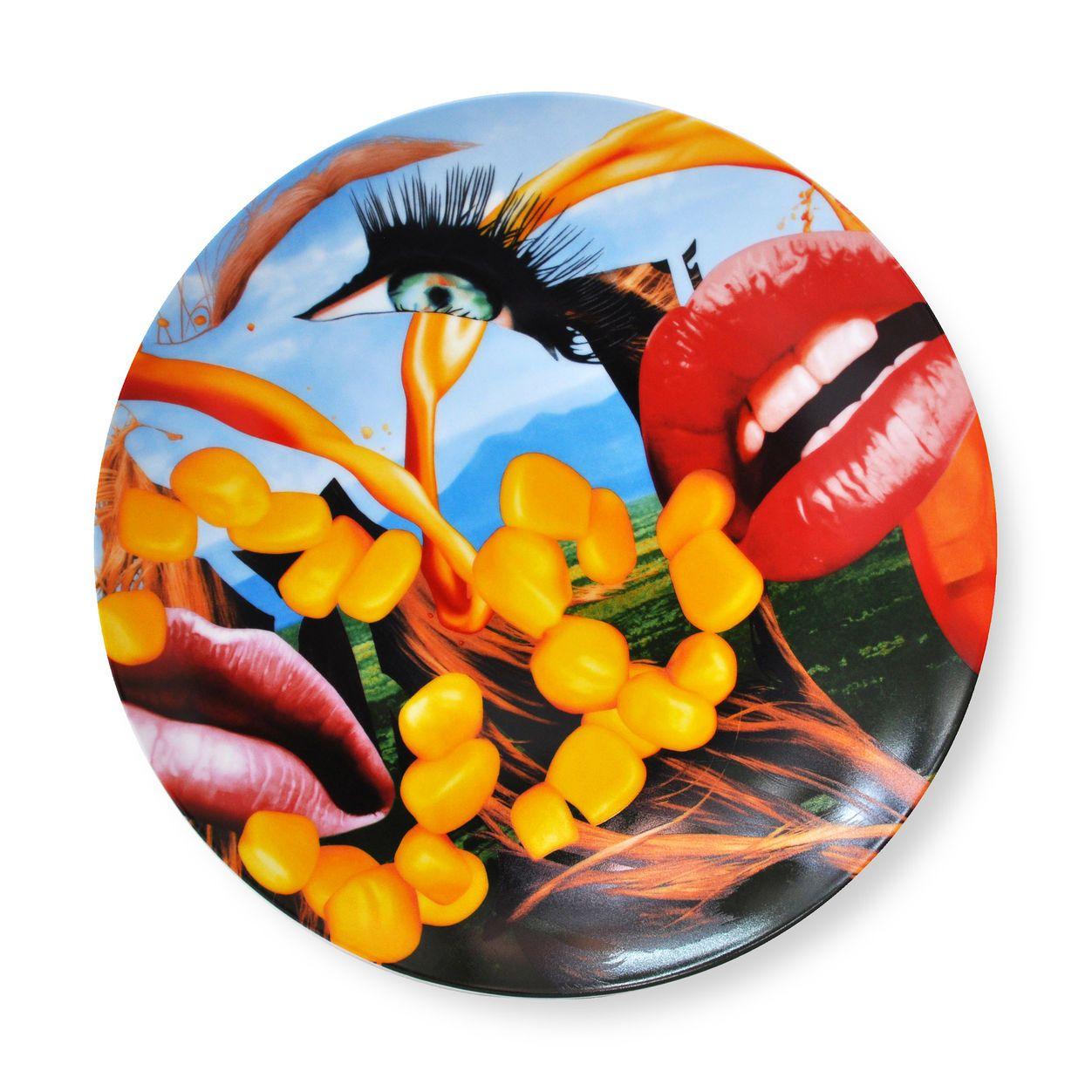 Jeff Koons Lips Plate in color Jeff koons art, Jeff