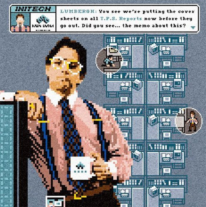 office space great. Lumbergh From Office Space8bit Space Great