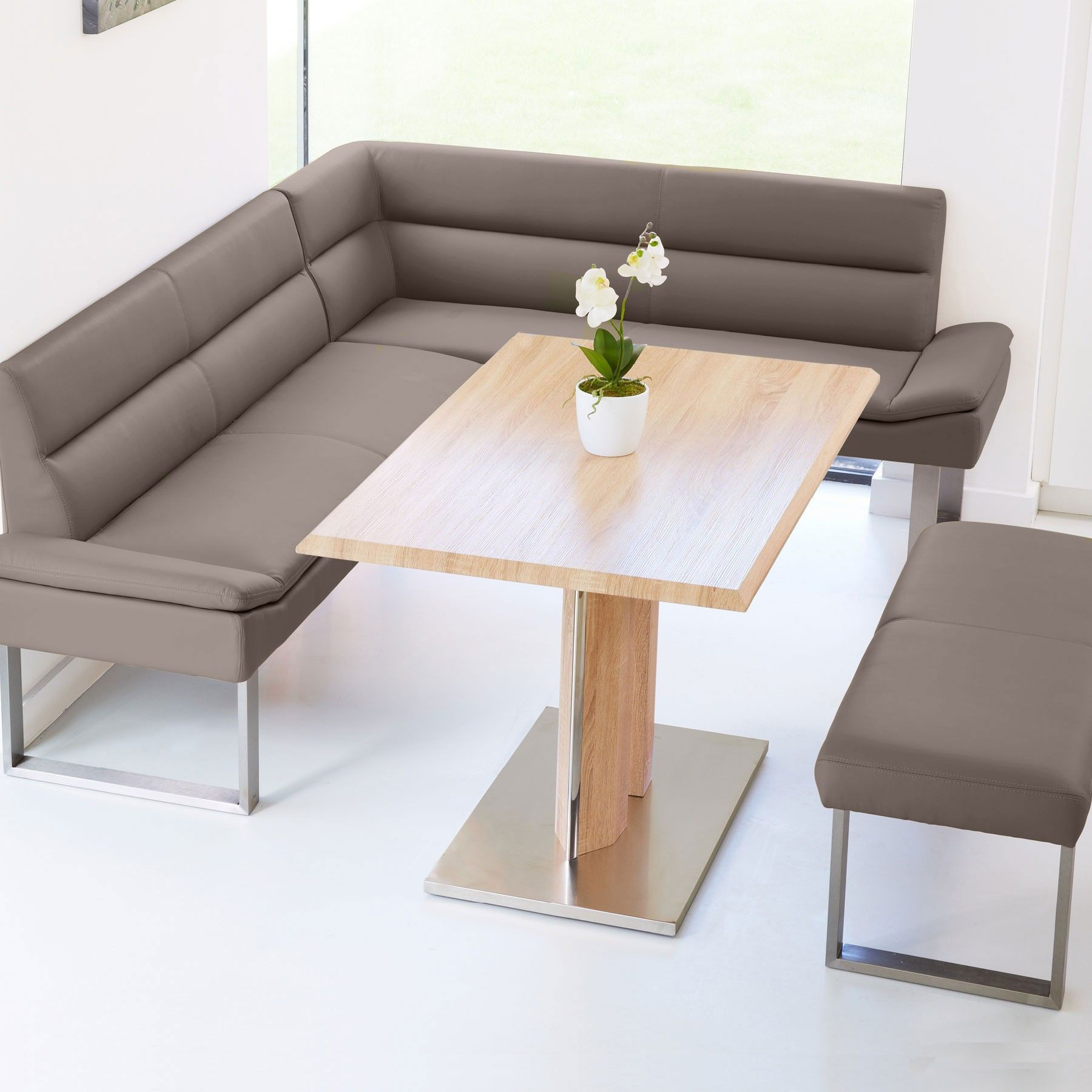 Kitchen Dining Sets With Benches: Lewis Left Hand Corner Bench Dining Set