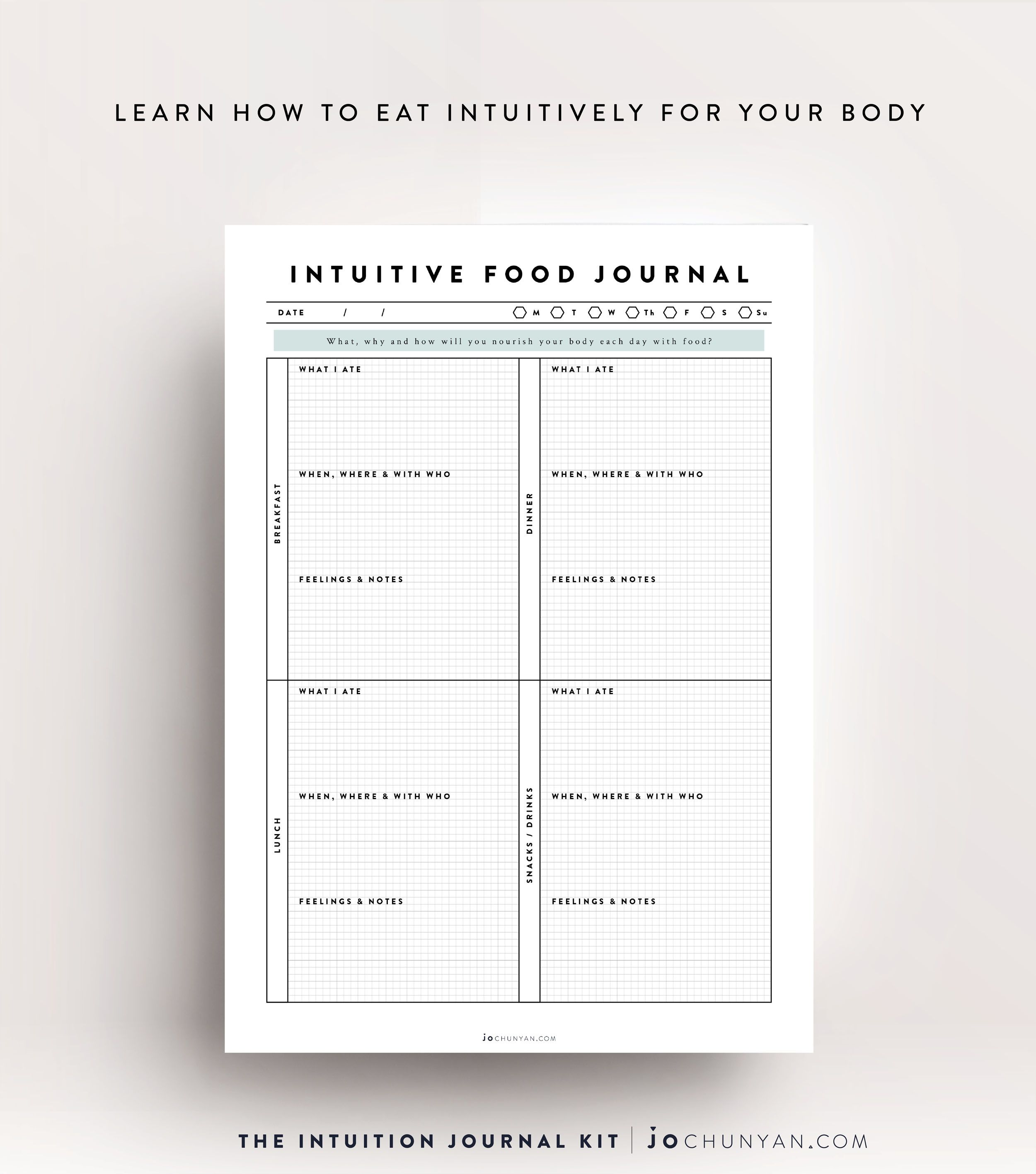 Intuition Journal Kit Learn How To Eat Intuitively And