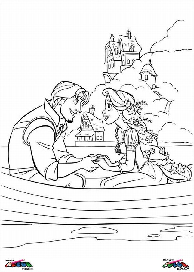 Tangled Coloring pages - Tangled0023 | Lets Party | Pinterest ...