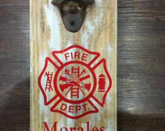 Man Cave Birthday Ideas : Firefighter wall mountable bottle opener man cave birthday ideas