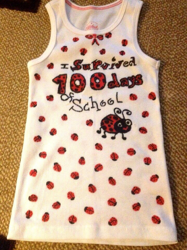 100 Days Of School Ladybug Shirt With Images 100 Day Shirt