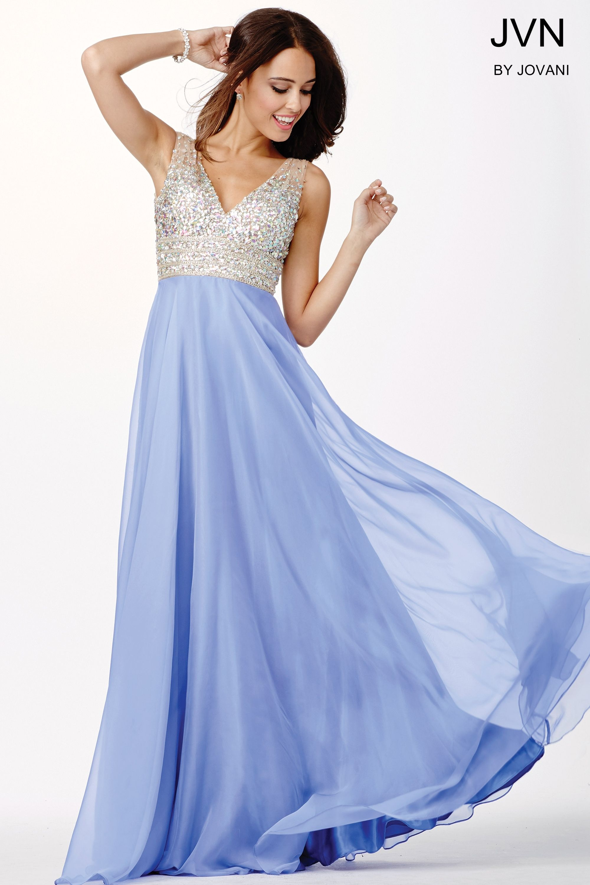 Pretty in periwinkle jvn 20437 prom dresses 2016 jvn jvn prom by jovani periwinkle chiffon prom dress ombrellifo Image collections